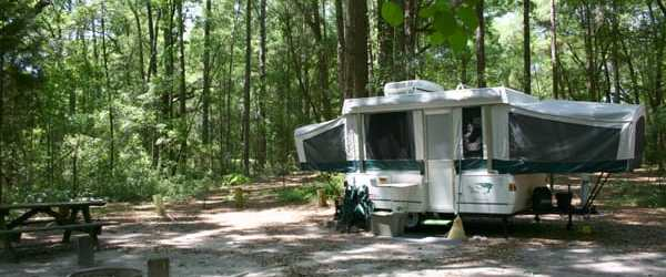 6 outstanding state park campgrounds along I-75 in North Florida
