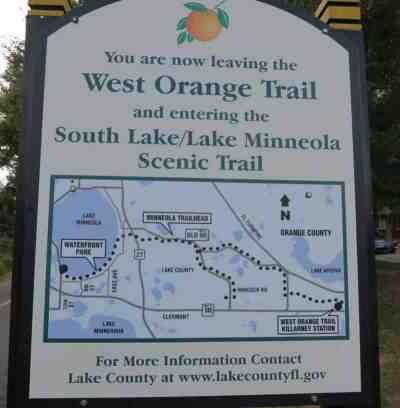At the west end of the trail, you can continue on along the the South Lake and Lake Minneola Scenic Trail.
