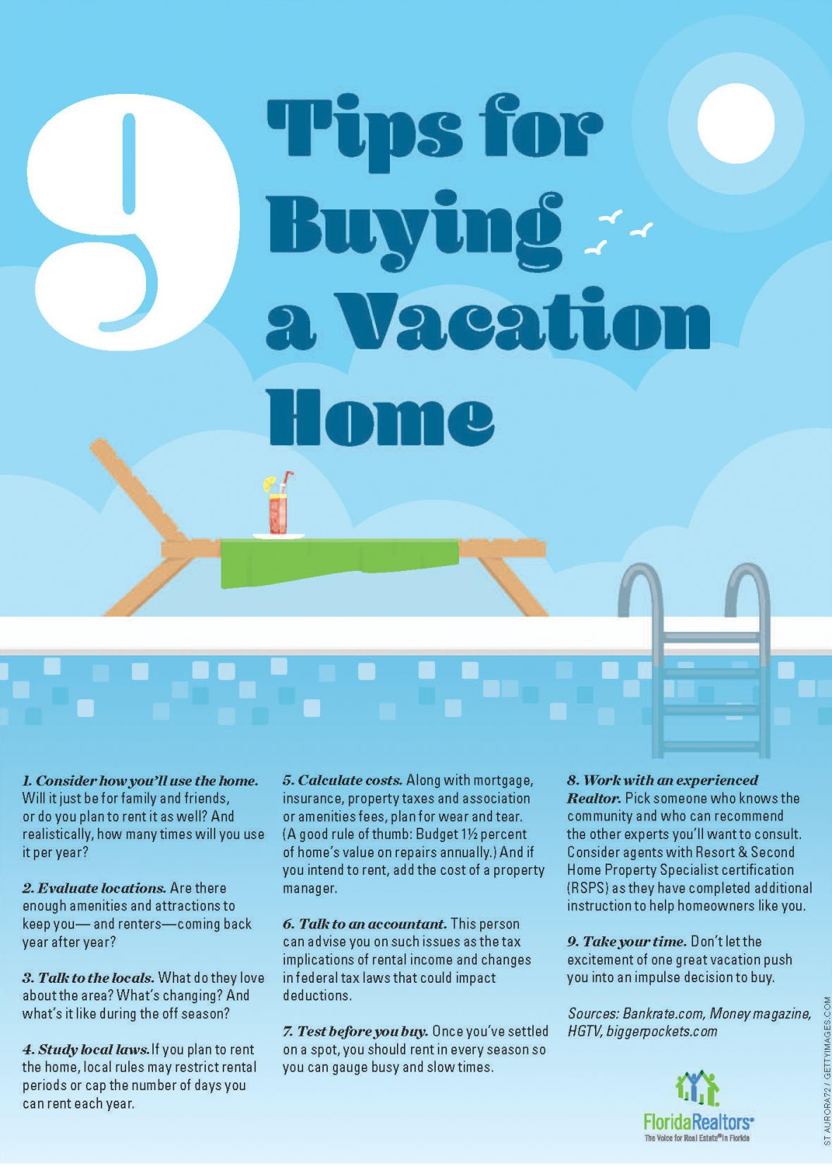 Tips For Buying A Vacation Home Florida Realtors