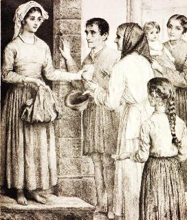 St. Zita and the poor