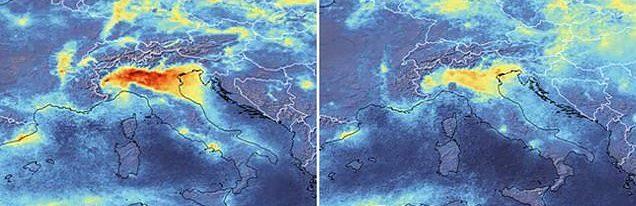 Satelit peste Italia