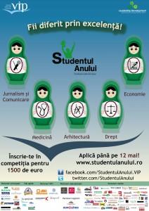 Afis Studentul Anului 2013