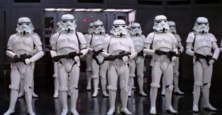 Since there is no lack of Stormtroopers in the saga, I selected an image mostly at random. I'm not even sure which movie this is...