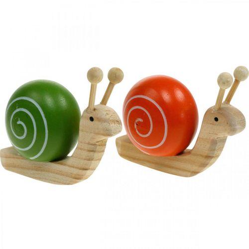 Wooden Snails For Decorating Spring Garden Snail Green Orange Table Decoration 6pcs 12309 Buy Online