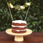 Felt Rose Succulent Cake Topper
