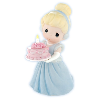 Cinderella With Birthday Cake Precious Moments Figurine