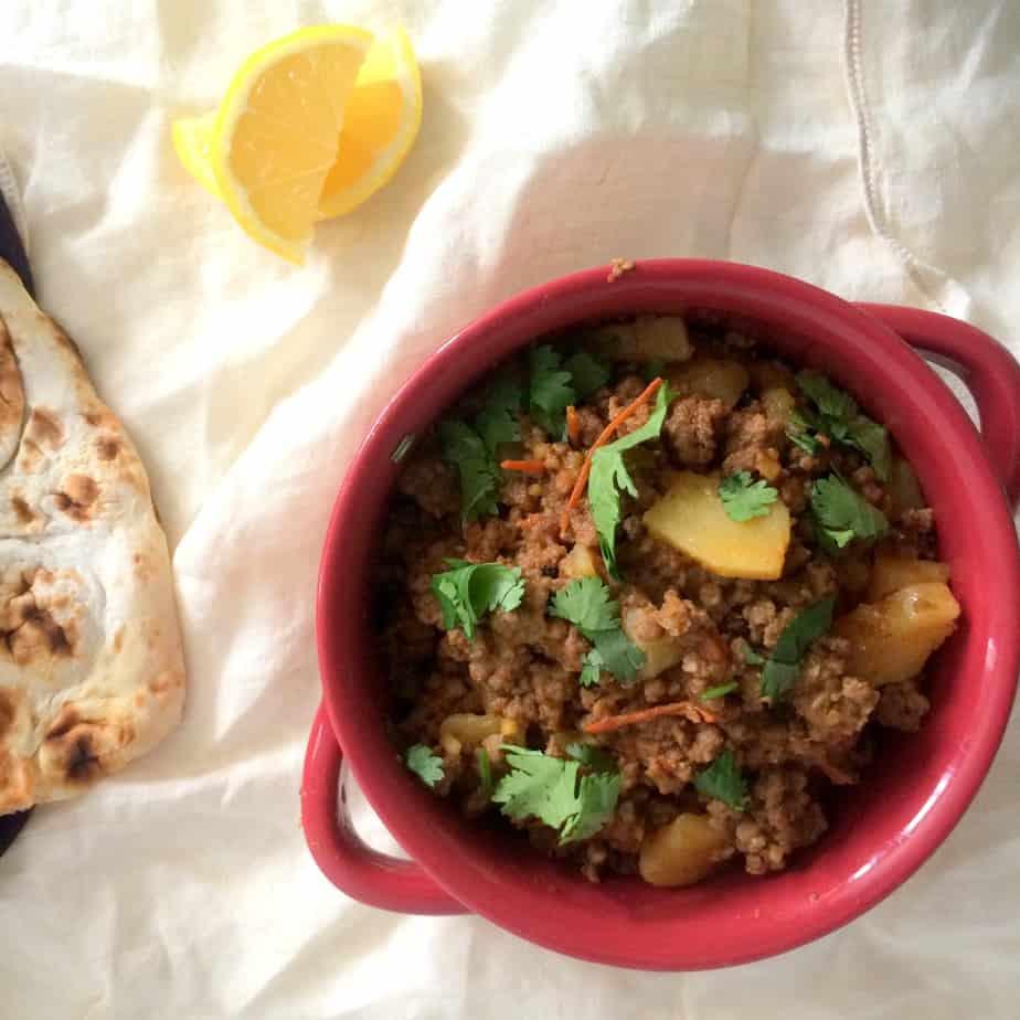 Aaloo Qeema - Ground Beef and Potatoes