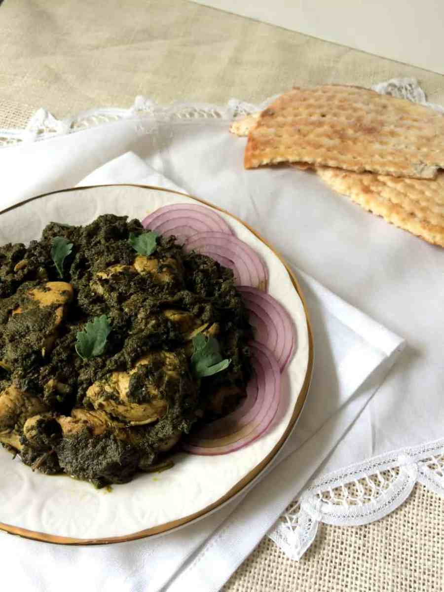 Pakistani Murgh Palak (Spinach and Chicken)