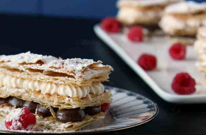 chocolate & cream mille feuille