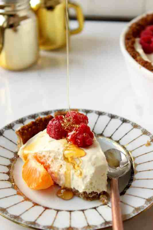 Orange Stevia Cheesecake Pie