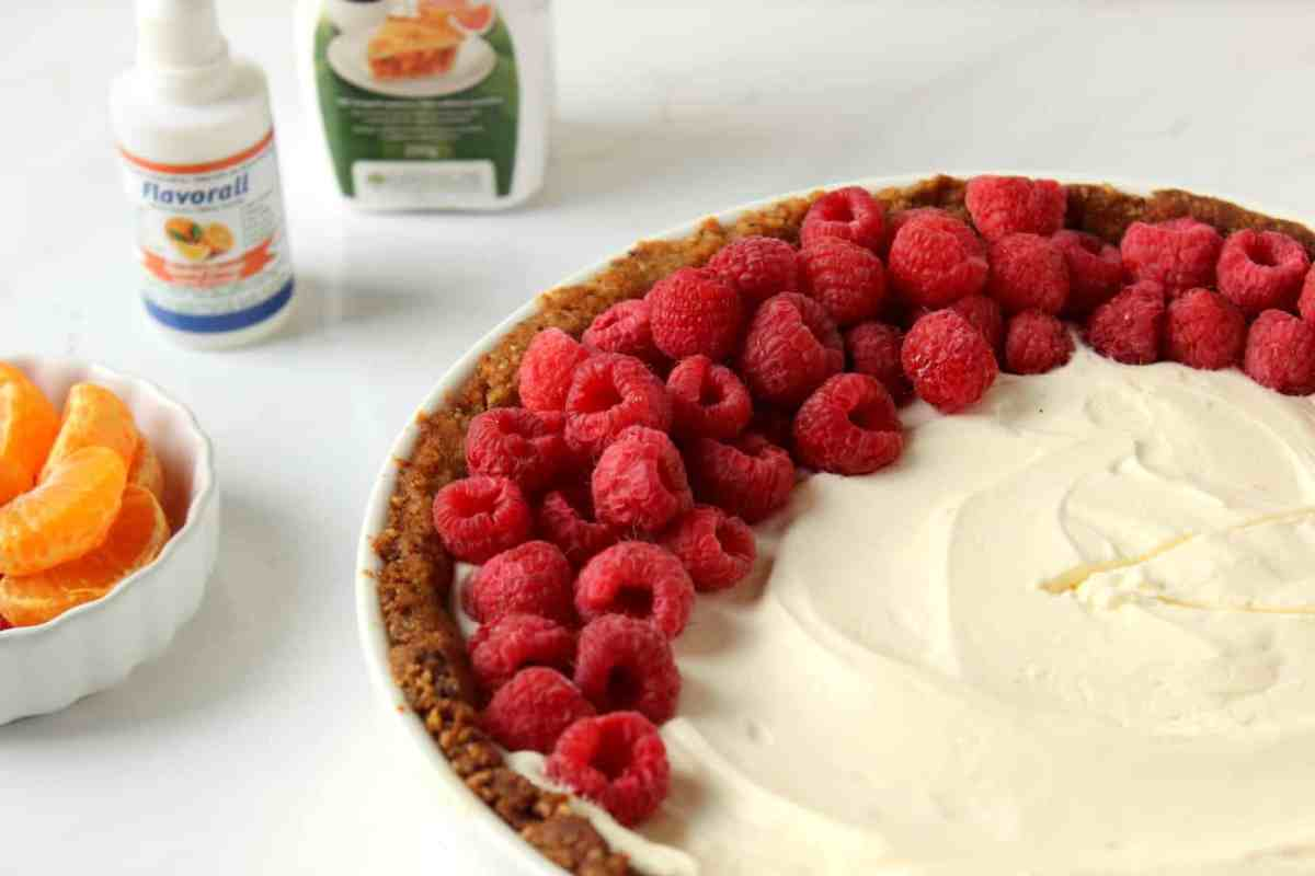 Orange Stevia Cheesecake Pie (GF!)