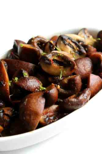 Roasted Mushrooms with Spicy Thai Dressing