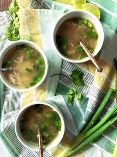 Chicken and Rice Soup with Chillies