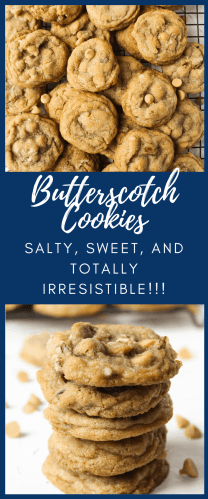Butterscotch Chip Cookies made crazy delicious with a salty-sweet twist!