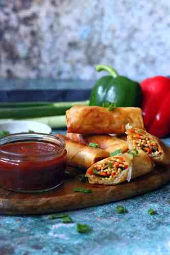 Vegetable Noodle Spring Rolls