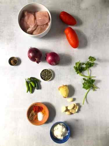Ingredients for Chicken Masala