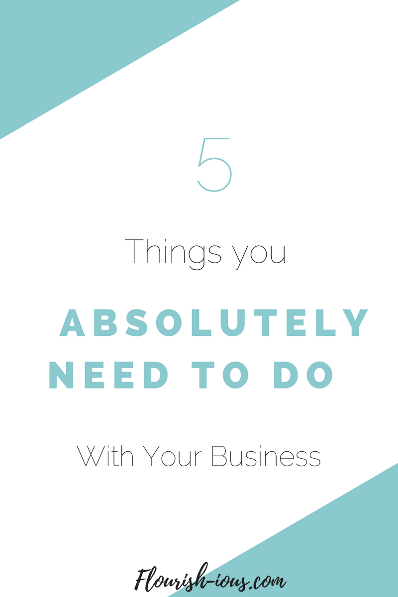 You want to be successful in your small business. It's not enough to be really good at selling handmade crafts on etsy or running a killer facebook page. Here are my top five tips for running and organizing your business, so you can be the entrepreneur you've always dreamed of.