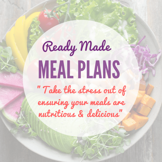 Ready made meal planning packages