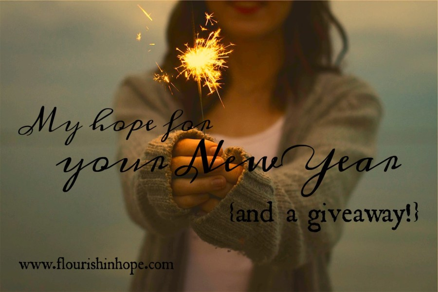 My Hope for YOUR New Year  And a Giveaway     Flourish in Hope
