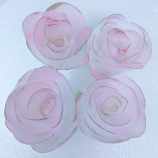 4 3d edible rice paper roses flower for cake decoration 3d cake youre viewing 4 3d edible rice paper roses flower for cake decoration 3d cake toppers pink with gold on the borders 1600 mightylinksfo