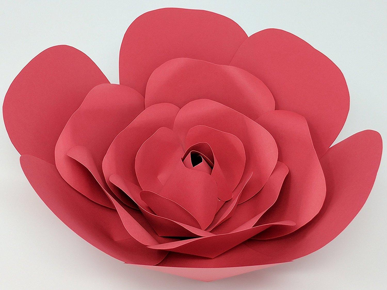 Paper Flower Rose 10 Diameter Pre Assembled Multiple Colors