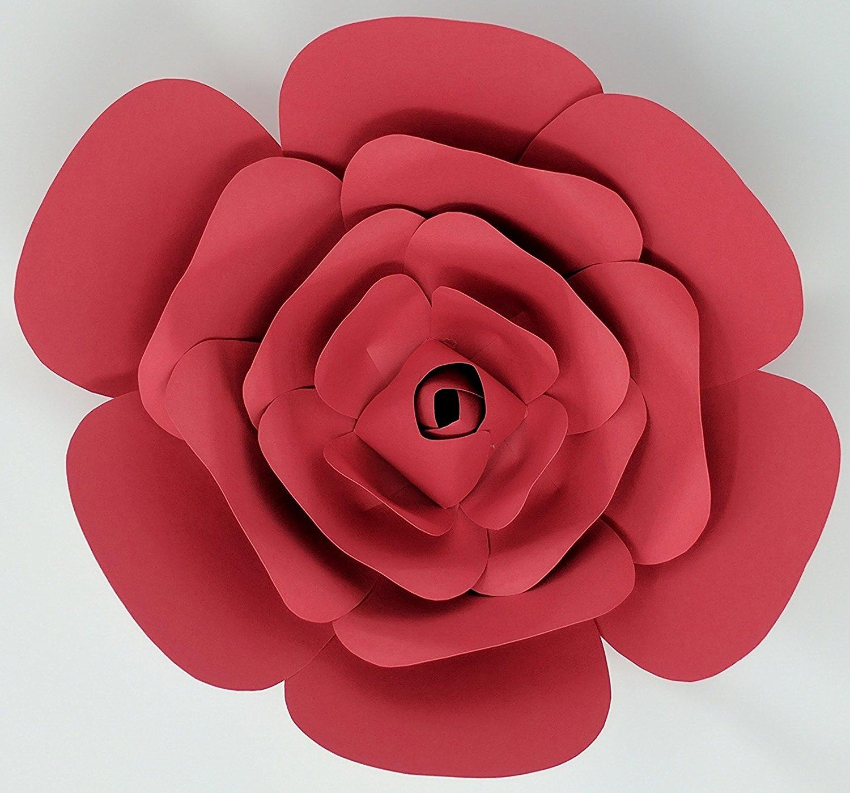 Paper flower rose 10 diameter pre assembled multiple colors paper flower rose mightylinksfo