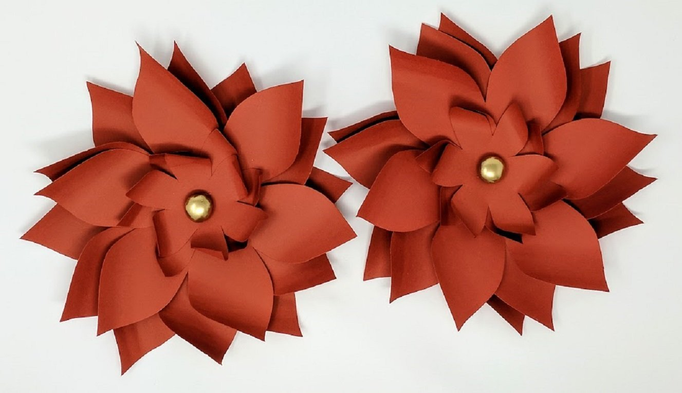 Paper Flowers Fall Backdrops Includes 5 Paper Flowers 14 Paper