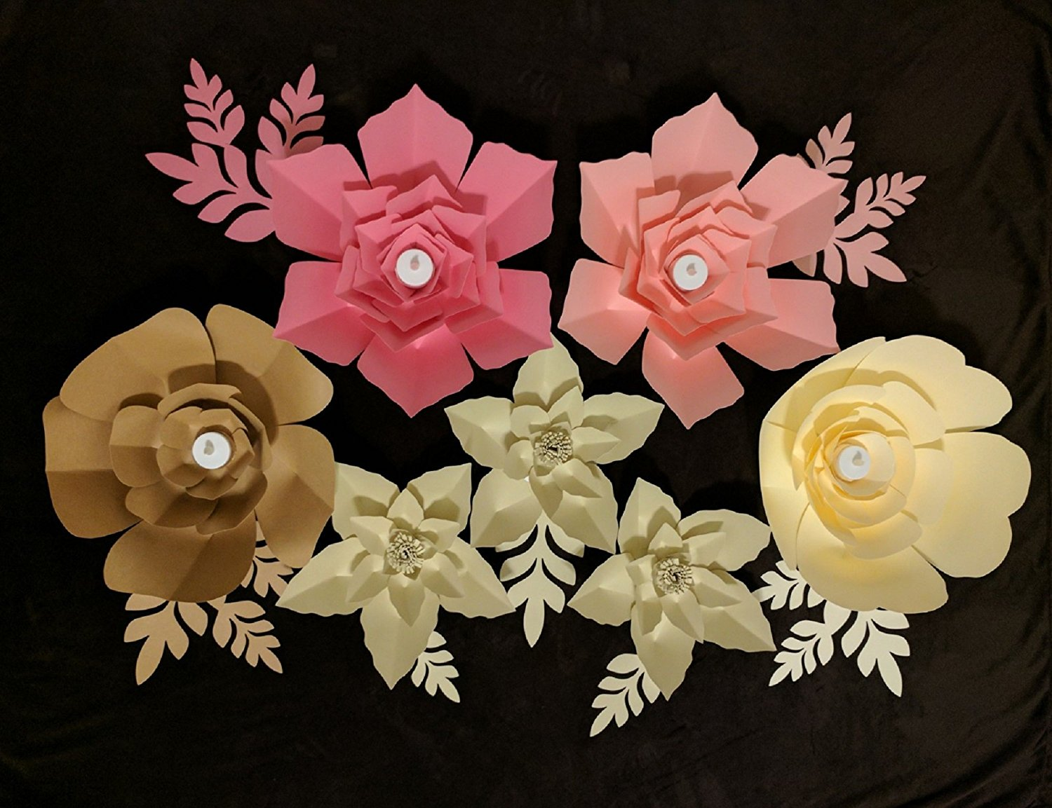 Paper Flowers For Backdrops Includes 7 Paper Flowers And 15 Paper