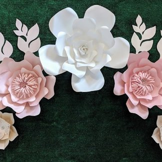 Youre Viewing Rose Colors Paper Flowers For Wall Decoration Includes 7 And 8 Leaves Fully Assembled 6500