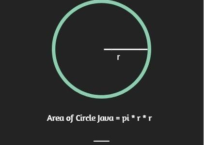 java program to calculate area of a circle