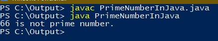 java program to check whether number is prime or not