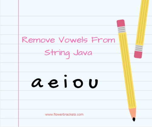 java program to delete vowels in a given string