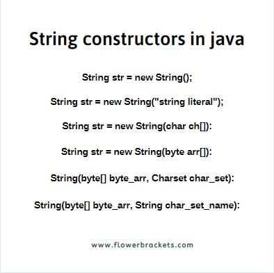 String constructors in java