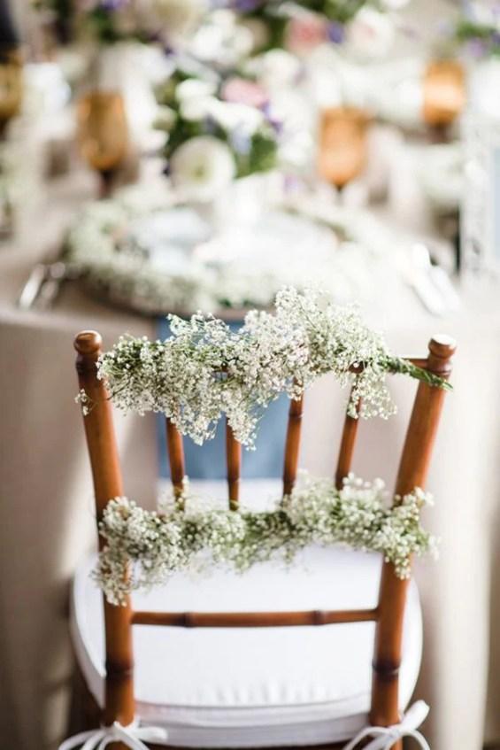baby's breath wedding decor