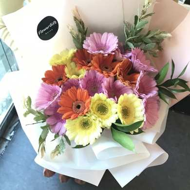 Mixed Gerbera Bouquet   Flower Gift Korea   350  5 Star Reviews     Flower Shop Seoul Mixed Gerbera Bouquet 1