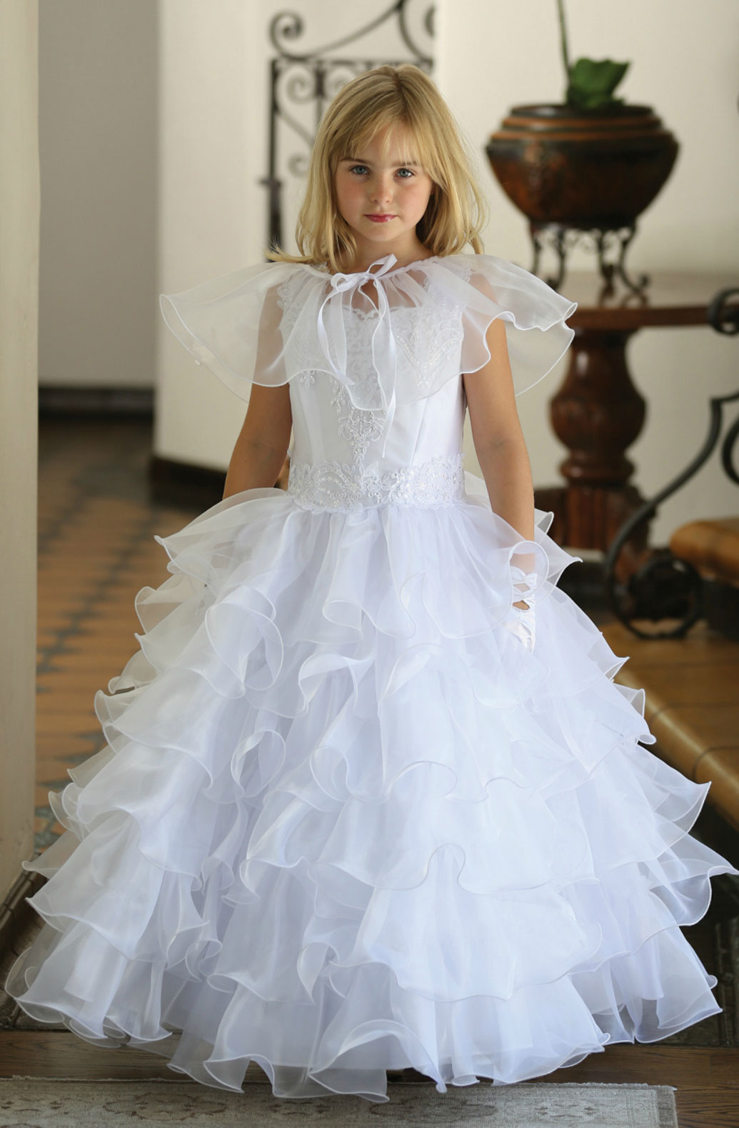 Black Dresses Flower And Girl Silver