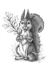 Pencil sketch of Flowerlark.
