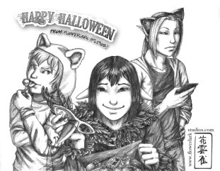 Pencil Sketch for Halloween