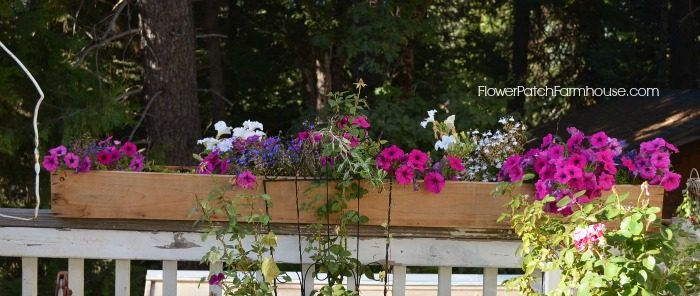 DIY Cedar Fence board window box planters, FlowerPatchFarmhouse.com