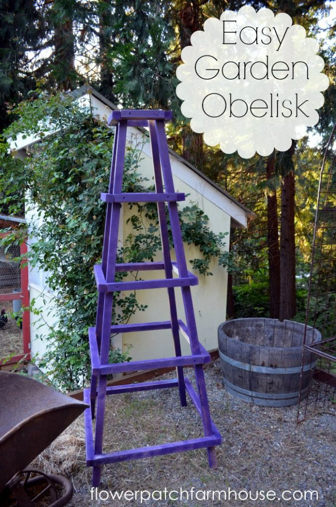 Great Easy DIY Garden Obelisk, Www.flowerpatchfarmhouse.com