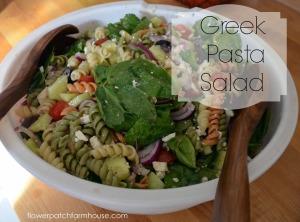Greek Pasta Salad, FlowerPatchFarmhouse.com.jpg