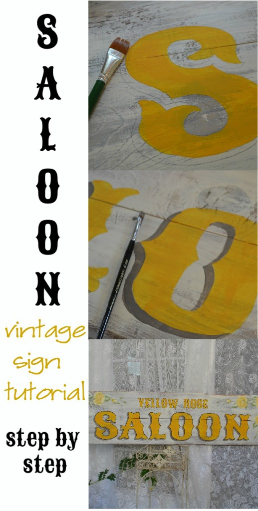 How to paint a vintage farmhouse sign, step by step tutorial, FlowerPatchFarmhouse.com