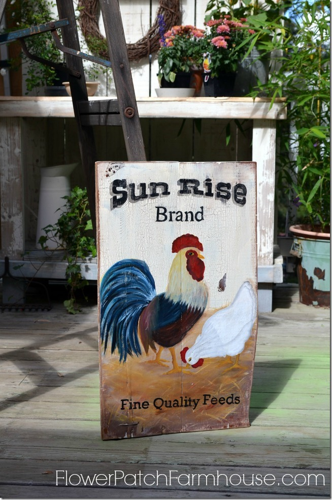 Sun Rise vintage feed sign1