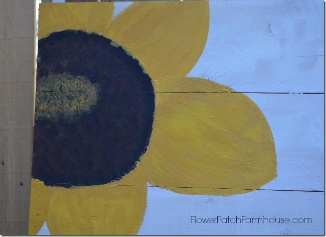 paint a sunflower tutorial 11