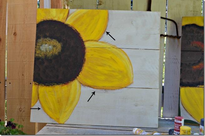 paint a sunflower tutorial 21