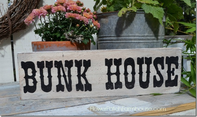 rustic bunk house western sign