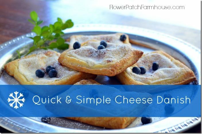 Easy Cheese Danish Recipe, FlowerPatchFarmhouse.com