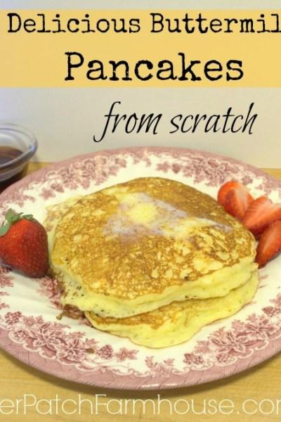 Delicious Homemade Buttermilk Pancakes from scratch