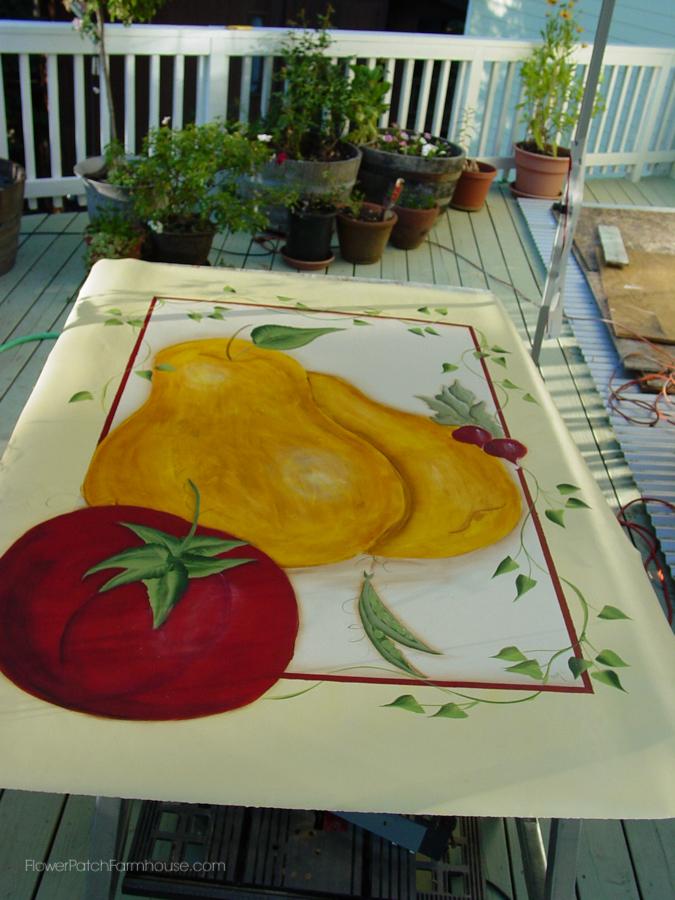 Tuscan Floorcloth painted on linoleum (7 of 7)