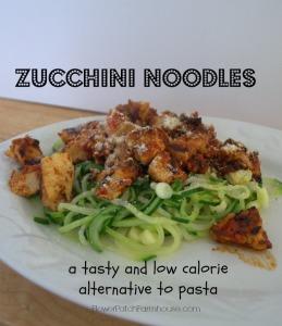 Zuccchini noodles, a great alternative to pasta